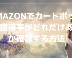 Amazonでカートボックス獲得率がどれだけ取得できているか確認する方法
