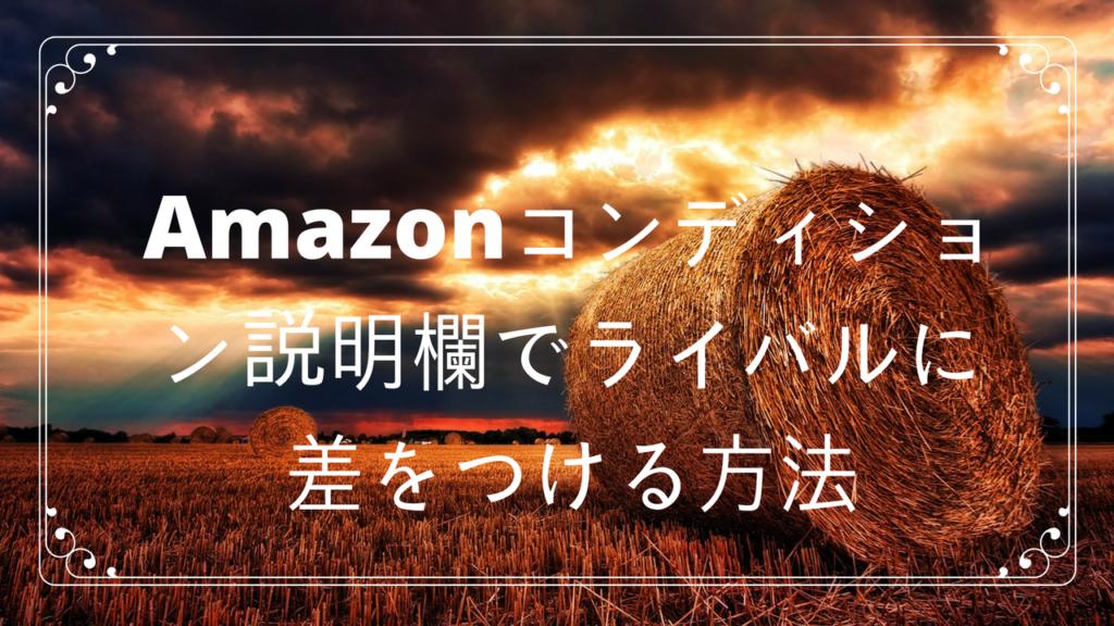 保護中: Amazonコンディション説明欄でライバルに差をつける方法